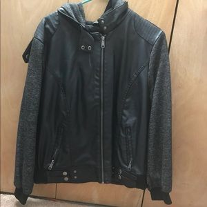 Black Sweater/LeatherJacket